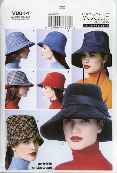 Patricia Underwood hat pattern - Vogue 8844