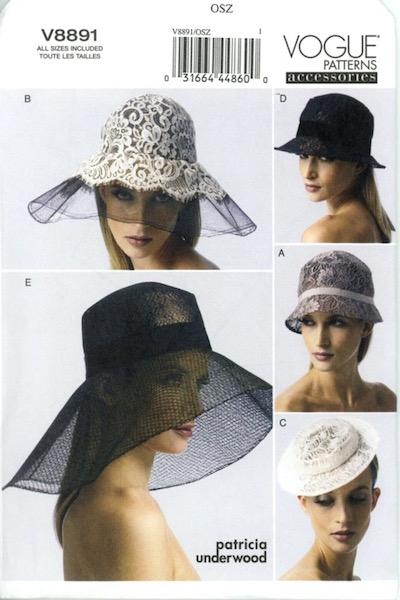Patricia Underwood hat pattern - Vogue 8891
