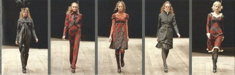 Widows of Culloden - Alexander McQueen runway lookbook FW 2006