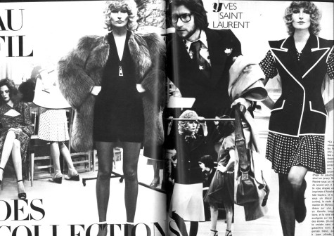Helmut Newton's photos of Yves Saint Laurent couture for Vogue Paris, March 1971