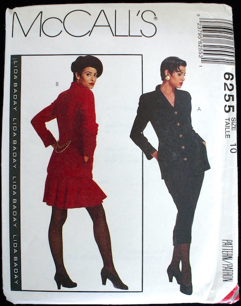1990s Lida Baday skirt suit pattern - McCalls 6255