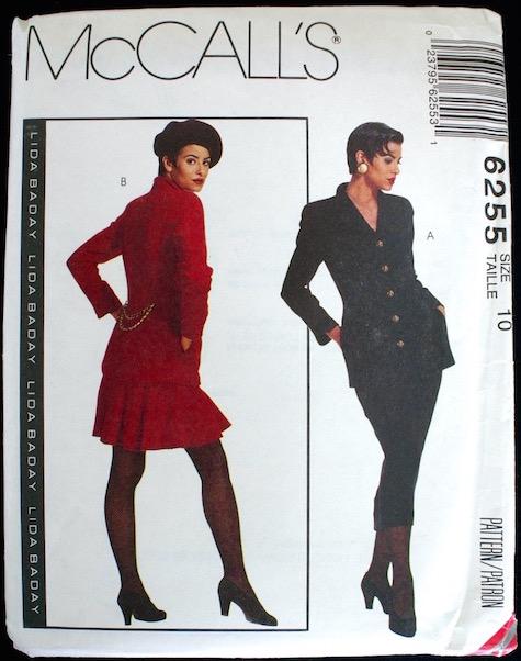 1990s Lida Baday skirt suit pattern - McCalls 6255