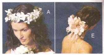 Patiricia Underwood bridal pattern - crown and hair ornament, Vogue 7242