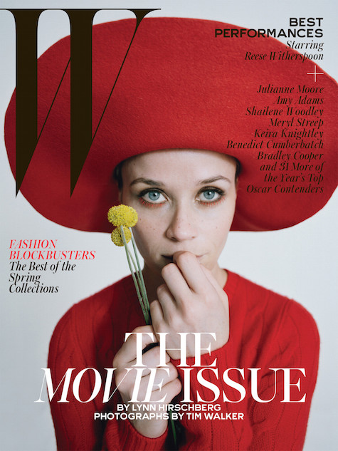 Reese Witherspoon by Tim Walker. Hat by Patricia Underwood, W February 2015