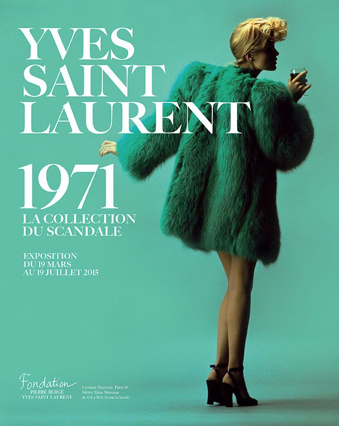 Yves Saint Laurent 1971: la collection du scandale. Exposition du 19 mars au 19 juillet 2015 - Fondation Pierre Bergé - Yves Saint Laurent