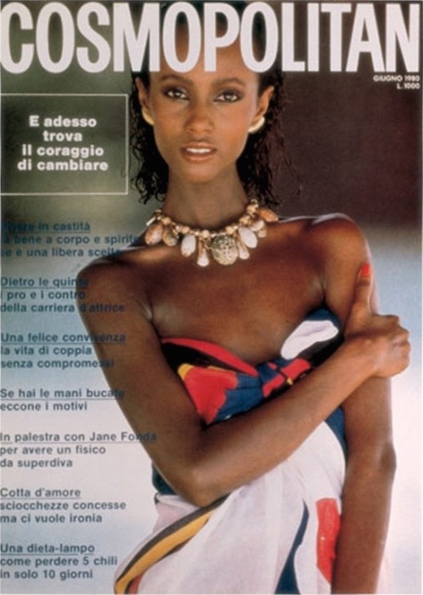Iman Italian Cosmopolitan cover, June 1980