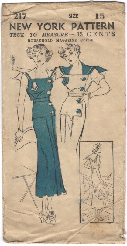1930s sailor dress pattern - New York 217
