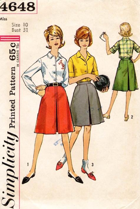 Early 1960s women's bowling pattern - Simplicity 4648