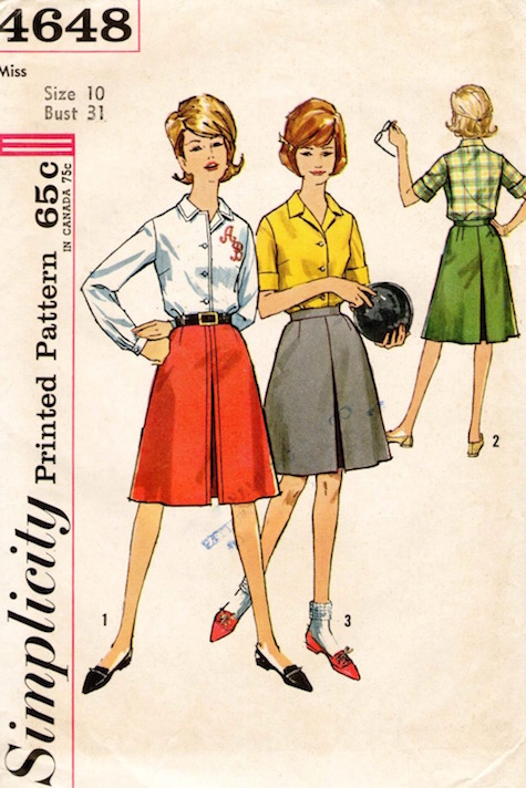 Early 1960s women's bowling pattern - Simplicity 4648