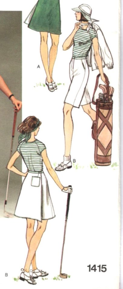 1970s Donna Karan for Anne Klein for Penfold golf pattern - Vogue 1415