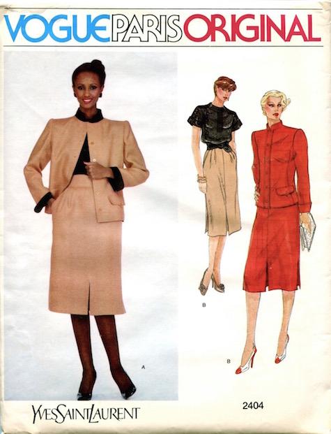Iman wears an Yves Saint Laurent skirt suit, circa 1980 - Vogue 2404