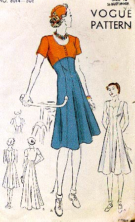 1930s sports dress, bolero, and hat pattern - Vogue 8014