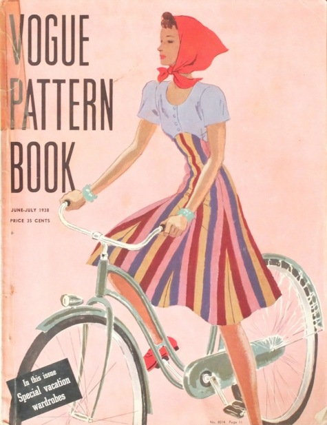 Late 1930s Vogue Pattern Book with cycling illustration