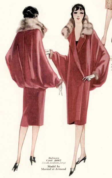 1920s Martial et Armand coat McCall 4667 illustrated in the Winter 1926 McCall Quarterly