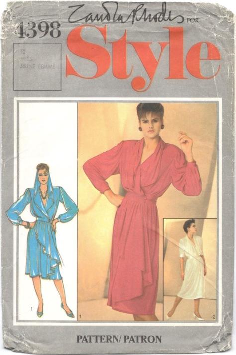 1980s Zandra Rhodes dress pattern Style 4389