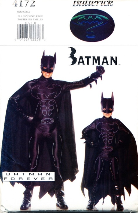 Batman Forever Batman costume pattern - Butterick 4172