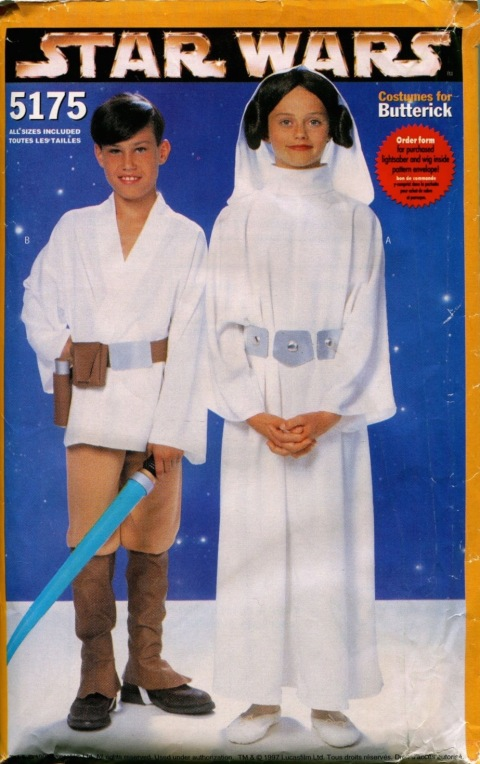 1990s children's Luke Skywalker and Princess Leia pattern - Butterick 5175