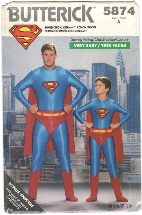 1980s Superman costume pattern - Butterick 5874