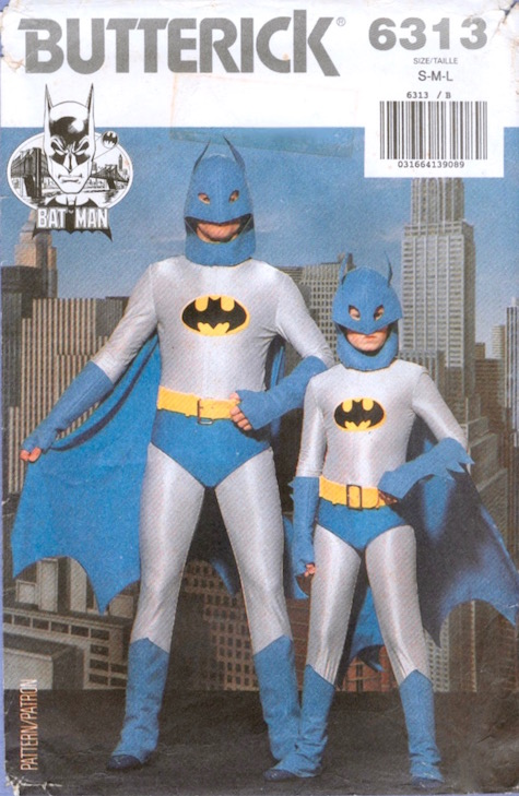 1980s Batman costume pattern - Butterick 6313
