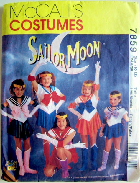1990s children's Sailor Moon costume pattern McCalls 7859