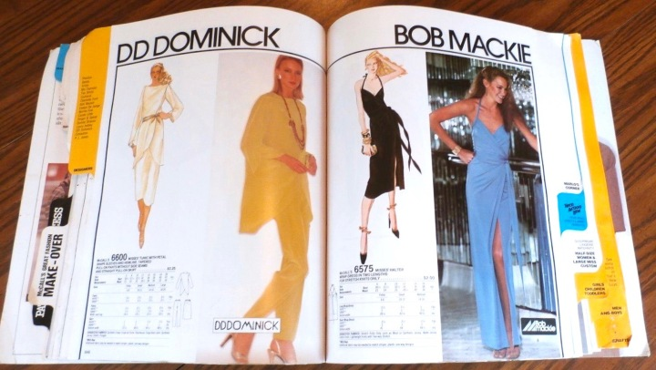 McCall's 6600 by DD Dominick and McCall's 6575 by Bob Mackie in McCall's catalogue, September 1979