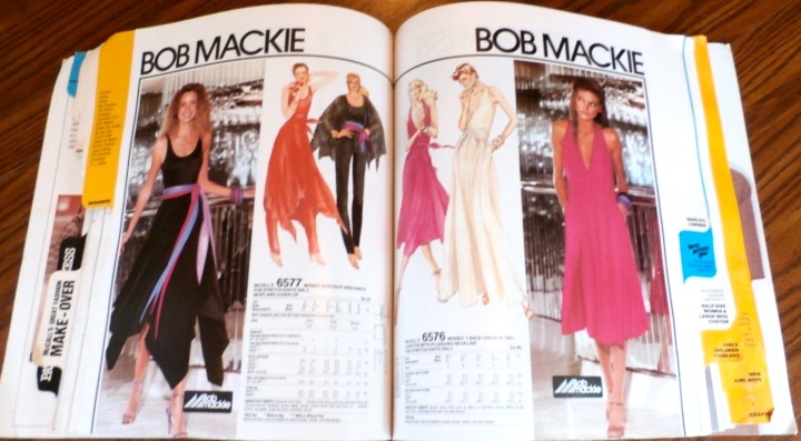 Bob Mackie patterns McCall's 6577 and 6576 in McCall's catalogue for September 1979