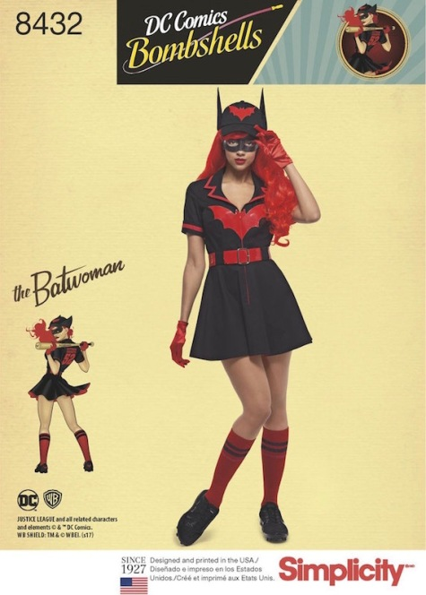 DC Bombshells Batwoman costume pattern Simplicity 8432