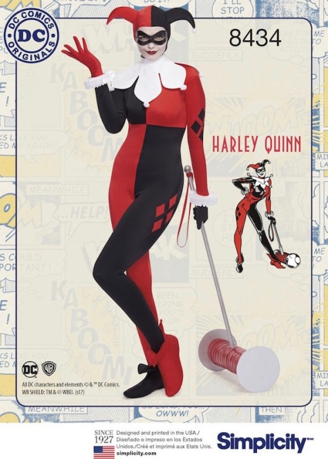 Harley Quinn costume pattern Simplicity 8434