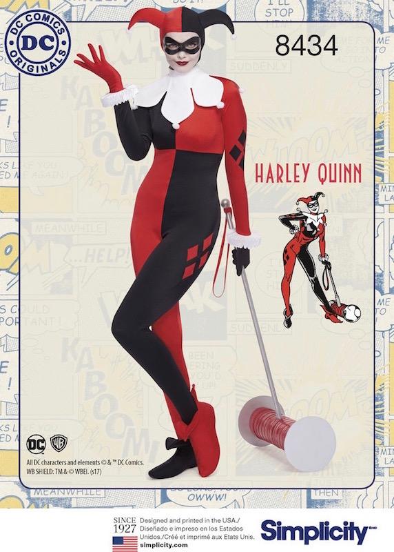 Harley Quinn costume pattern Simplicity 8434