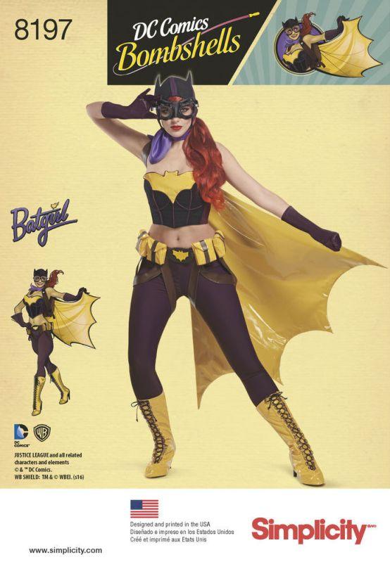 Official DC Comics Bombshells Batgirl pattern - Simplicity 8197