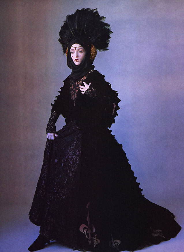 "Audrey Marnay in a costume from ""Star Wars Couture,"" photographed by Irving Penn, 1999"