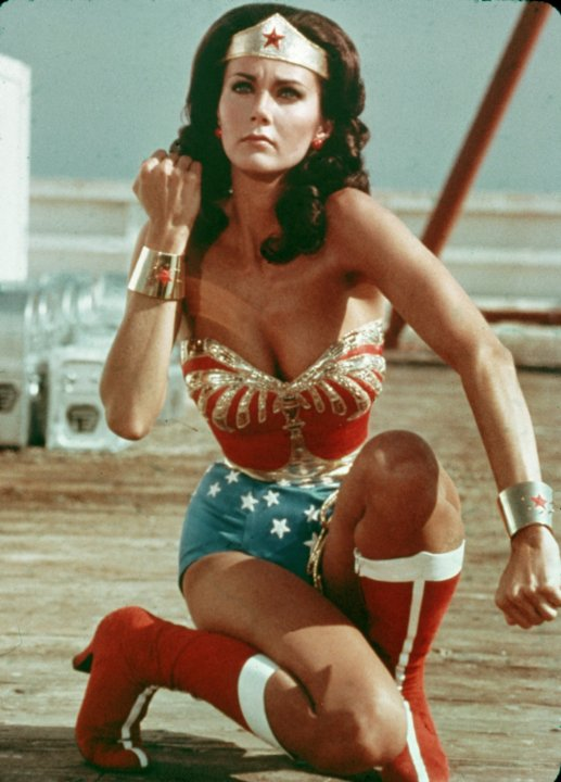 Lynda Carter in the Wonder Woman tv show, 1975