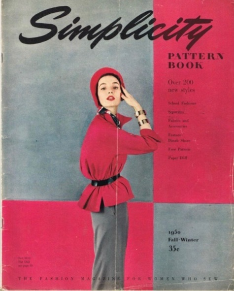 Fall-Winter 1950 Simplicity Patterb Book - cover by Richard Avedon