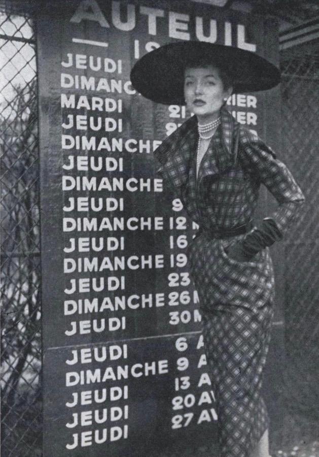 1950s Paquin dress pattern Vogue 1101 photographed in Paris by Norman Parkinson