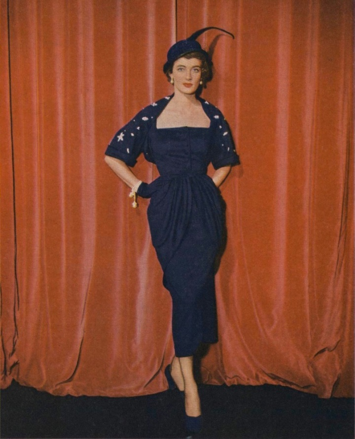 1940s Robert Piguet pattern Vogue 1053 photographed in Paris by Clifford Coffin