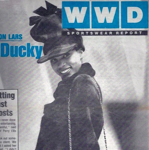 A Byron Lars look on the cover of Women's Wear Daily, 1991