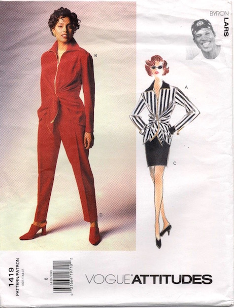 1990s Byron Lars jacket, skirt, and pants pattern - Vogue 1419
