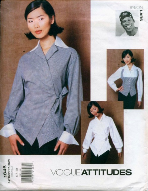 1990s Byron Lars shirt pattern - Vogue 1846