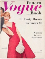 Evelyn Tripp on the cover of Vogue Pattern Book, Dec-Jan 1958-59