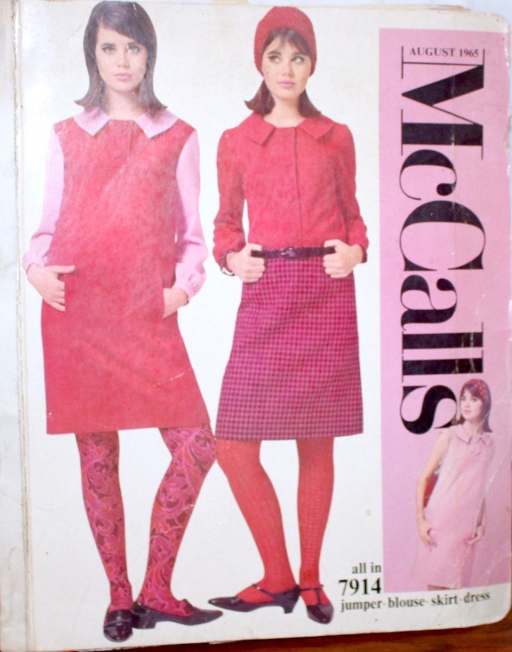 1960s Courrèges-look pattern McCall's 7914 as worn by Colleen Corby on the cover of the McCall's catalogue, summer 1965