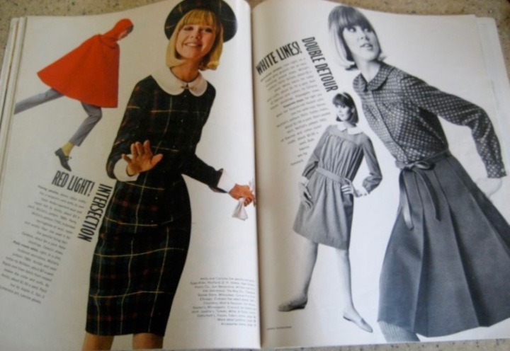 McCall's after Courrèges in Seventeen, July 1965. Model: Colleen Corby. Photos: Carmen Schiavone