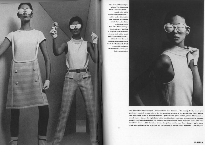 Courrèges in Vogue, March 1, 1965. Photos: William Klein