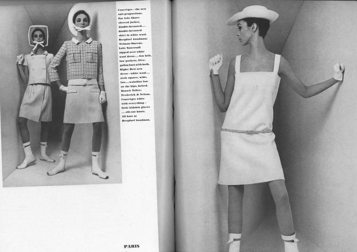Courrèges in Vogue, March 1, 1965. Photos: William Klein