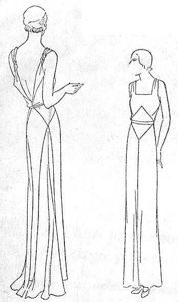 At CoPA; donated by Butterick Archives. Original B36, hip 41, 1931.