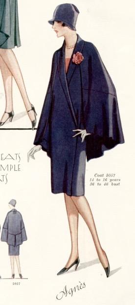 1920s Agnès coat pattern illustration - McCall 5057