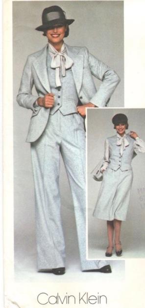 1970s Calvin Klein pantsuit and wardrobe pattern - Vogue 1369