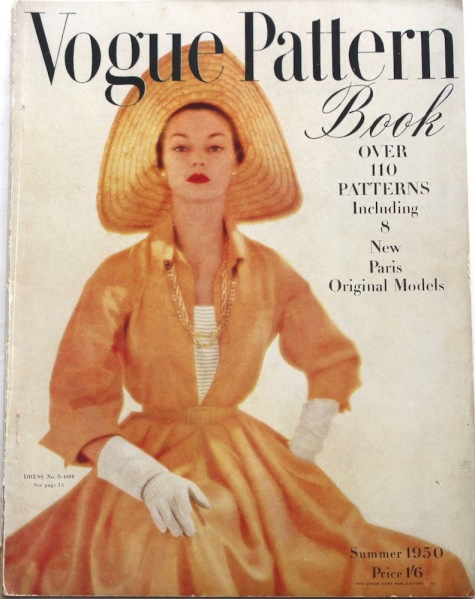 Jean Patchett wears Vogue S-4088 dress + cami on the cover of Vogue Pattern Book