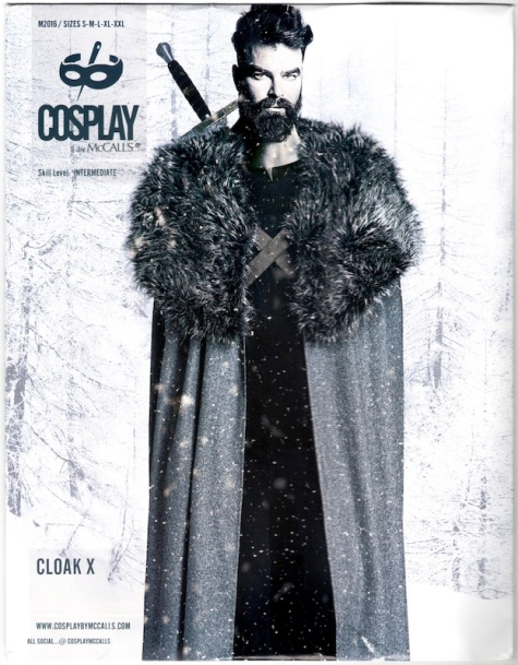 Cloak X: Jon Snow / Night's Watch / Sansa Stark cosplay pattern, Cosplay by McCall's 2016
