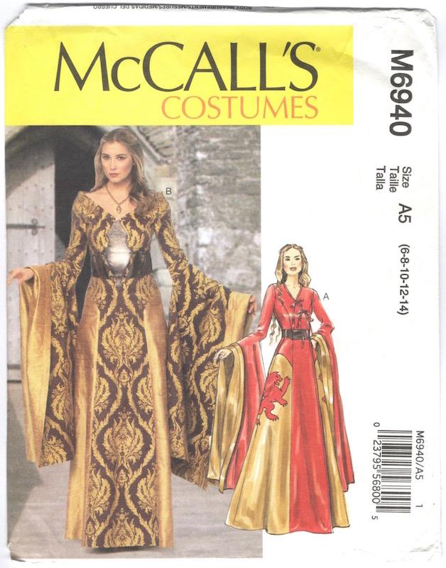 game of thrones cersei costume pattern mccalls 6940 2014