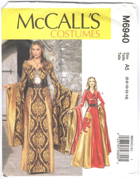 Game of Thrones / Cersei costume pattern McCall's 6940 (2014)